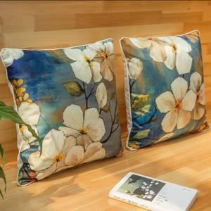 Wholesale cushion cover: Japan Sakura Printed Pillow Cover Pillow Case Sofa Car Decorative Cushion Cover