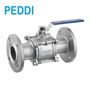 Wholesale 3pc ball valve: DIN 3PC Flanged Ball Valve