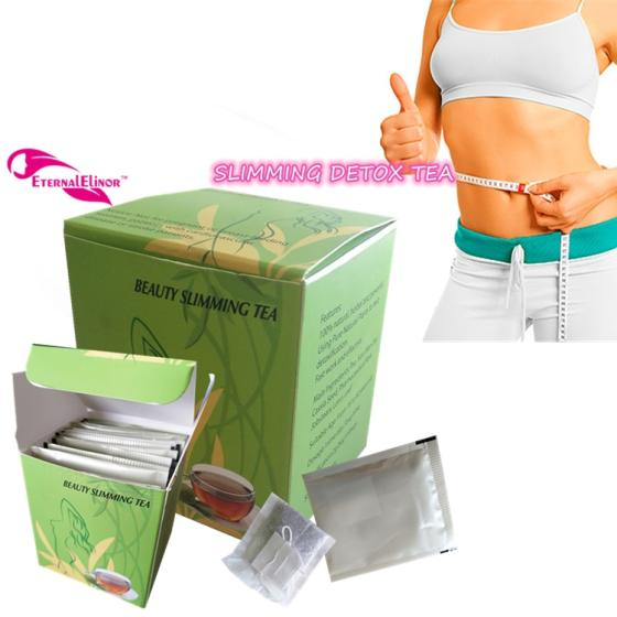 Box Packaging and Sugar-Free Feature Slimming Detox Herbal Tea Private Label for Colon Cleanse
