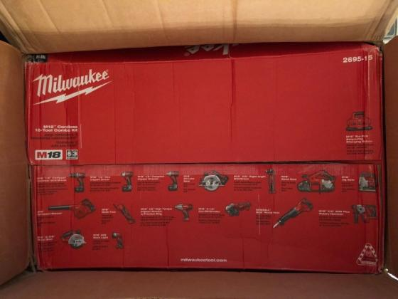 Sell Best Price Milwaukee 2695-15 M18 18V Cordless  15-Tool Combo Kit