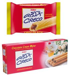 Wholesale wafer rolls: Creco Biscuit Sticks with Cream Filling