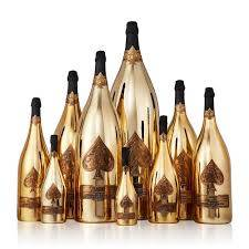 Wholesale spade: Armand De Brignac Champagne Brut Ace of Spades 750ML,Spades Shaped Metal Stickers,Gold Armand De Bri