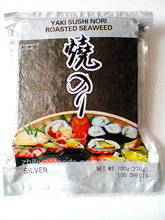 Wholesale seaweed wrapping: Roasted Seaweed Yaki Sushi Nori 100 Sheets