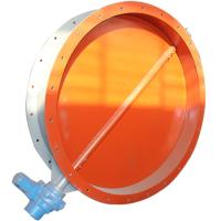China Industrial Pneumatic/Motor Type Vent Butterfly Valve Supplier