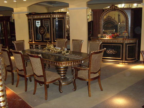 Middle Eastern Style Solid Wood Dining Room Dws 9100 Id