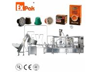 4 Lane Nespresso Capsule Filling Sealing Machine with 10ct PaperBox Packaging Machine CP5004N