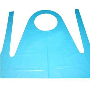 Wholesale white disposable aprons: Medical Colored Disposable PE Apron for Hospital