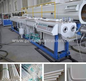 Wholesale pvc pipe production line: Small Diameter PVC Double Pipe Production/Extrusion Line-PVC Twin Pipe Making Machine Price