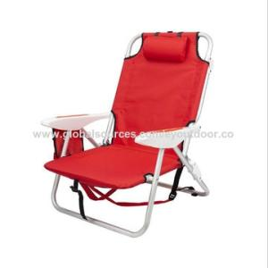 Wholesale leisure chair: Outdoor Travel Light Aluminum Folding Backpack Recliner Folding Chair Lunch Rest Chair Leisure