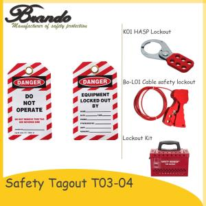 Wholesale safety signs: Safety Lockout Tagout PVC Padlock Label Safety Tag and Sign