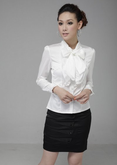 The Women's Cotton Long Sleeve Business Shirts(id:6947729) Product ...