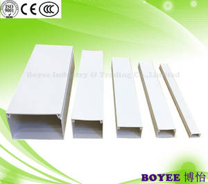 Wholesale pvc electrical wire: PVC Cable Trunking / PVC Wire Trunking / Electrical Duct/ PVC Electrical Trunking/ Cable Tray