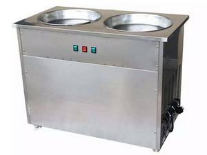 Wholesale ice cream machine: Double Pans Rolled Ice Cream Making Machine