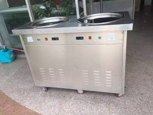 Wholesale Other Store & Supermarket Equipment: Double Pans Double Compressors Rolled Ice Cream Making Machine