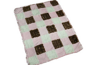 Wholesale pv plush fabric: High Quanlity 100% Polyester Baby Blanket with Applique