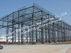 Wholesale prefabricated steel building: Prefabricated Industrial Single Span Steel Structural Buildings
