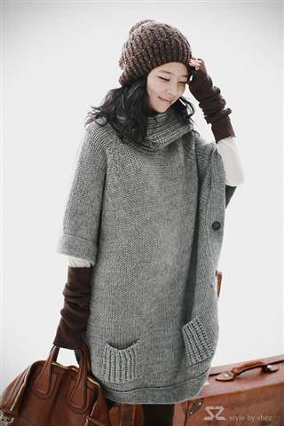 Sell m169 asian fashion long sweater coat wholesale