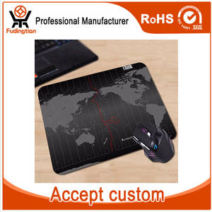 Wholesale anti slip pad: FDT Time Zone of World Map Rubber Anti-Slip Gaming Mouse Pad