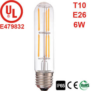 Wholesale 6w led bulb: T10/T30 E26 6W Non-Dimmable LED Filament Bulb, UL CUL Listed