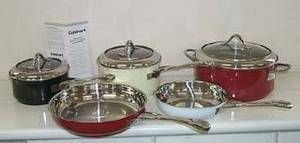 Wholesale stainless steel cookware: Color Enamel Coated Stainless Steel Cookware