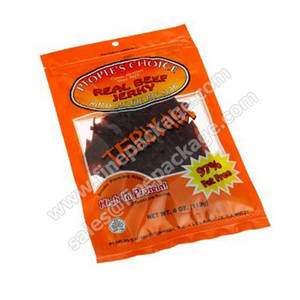 Wholesale printing food vacuum bag: Vacuum Printed Beef Jerky and Biltong Tear Notch
