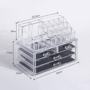 Wholesale acrylic box: Packaged Large Cosmetic Storage Box Acrylic Organizer Makeup