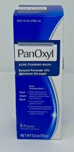 Wholesale peroxides: Panoxyl Benzoyl Peroxide Foaming Acne Wash 10% 5.5oz