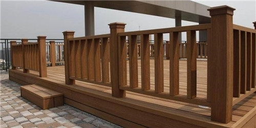 Factory Outlet Outdoor Fence Bamboo Handrail Balustrades Wooden Handrails for Public Use From China