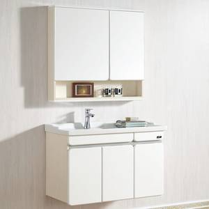 Wholesale solid wood mdf vanity: Wall Mount Plywood Bathroom Vanity