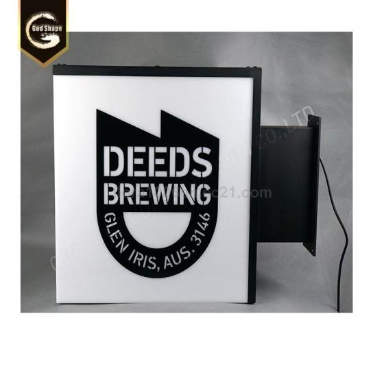 Customized LED Advertising Stainless Steel Light Box Signs for Beer Shops