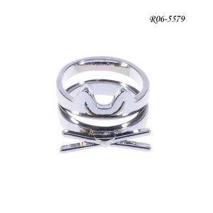 Wholesale ring: Metal Alloy Rings with Sliver Plated Color, Made of Iron, Novel Design