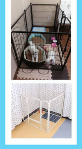 Wholesale fence panel: black Pink Tall Dog Playpen Crate Fence PET Play Pen Exercise Cage Panel Arbitrary Assembly