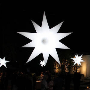 Wholesale event decoration: Party and Event Decoration Inflatable Air Star with Color- Changable Light