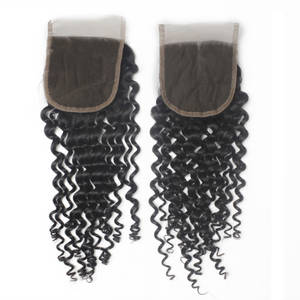 Wholesale Hair Extension: Curly Wave 4*4 Lace Closure Top Grade Human Hair