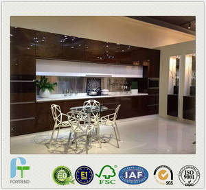 Wholesale natural crack: Luxury Solid Wood Veneer Kitchen Cabinet with Lacquer Finished