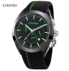Wholesale wristwatch: Comtex Sapphire Glass Silicone Strap Waterproof Sport Wrist Watch for Man