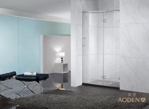Wholesale frameless shower screen: Hotel Use Frameless Glass Shower Screen with Hinge Door