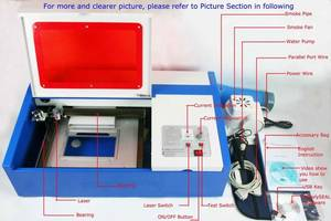 Wholesale computerized embroidery machine: K40 40w Mini CO2 Rubber Stamp Laser Machine