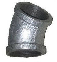 Wholesale 45 degree elbow: Malleable Iron Pipe FITTING Elbow 45 Degree