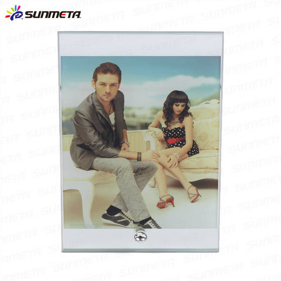 photo frame: Sell manufacturer blank sublimation coated 230*180*10 glass photo frame