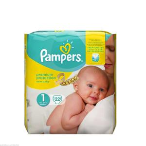 Wholesale baby nappy pants: Pampers Premium Protection New Baby Size 1 Diaper 2-11lbs Diapers 22 Pieces