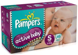 Wholesale baby disposable diapers: Pampers Diapers Active Baby Size 1 2 3 4 S M L XL New Economy Newborn Disposable