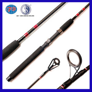 Wholesale glass yarn: FD013 2.13m IM6 Carbon Blanks by Glass Yarn Wrapping Fishing Rod for Saltwater