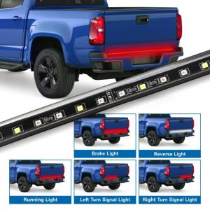 Wholesale ford: 60 Flexible Tailgate Light Bar Waterproof Red/White Strip Light for Ford GMC Dodge Toyota