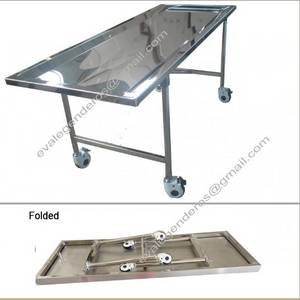 Wholesale foldable table: Funeral Stainless Steel Foldable Embalming Table