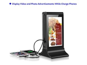 Wholesale exhibits display booths: Funtek 7 Inch LCD Android WiFi Table Advertising Player Power Bank FYD835S