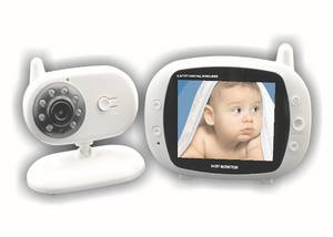 Wholesale audio & video: 3.5 Inch Wireless Audio Video Baby Monitor Security Camera 2 Way Talk Nigh Vision IR LED Temperature