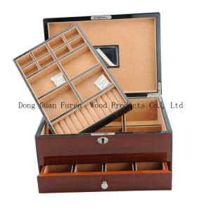 Wholesale jewelry box packaging: Customized Wooden Jewelry Packaging Box