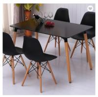 Wholesale Modern Polypropylene Wooden Legs Chairs Classic Look Black Elegant Modern Dining Table