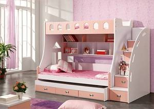 859# Combined Bunk Beds Children Furniture Princess Prince Bed 1.2m Children Bed